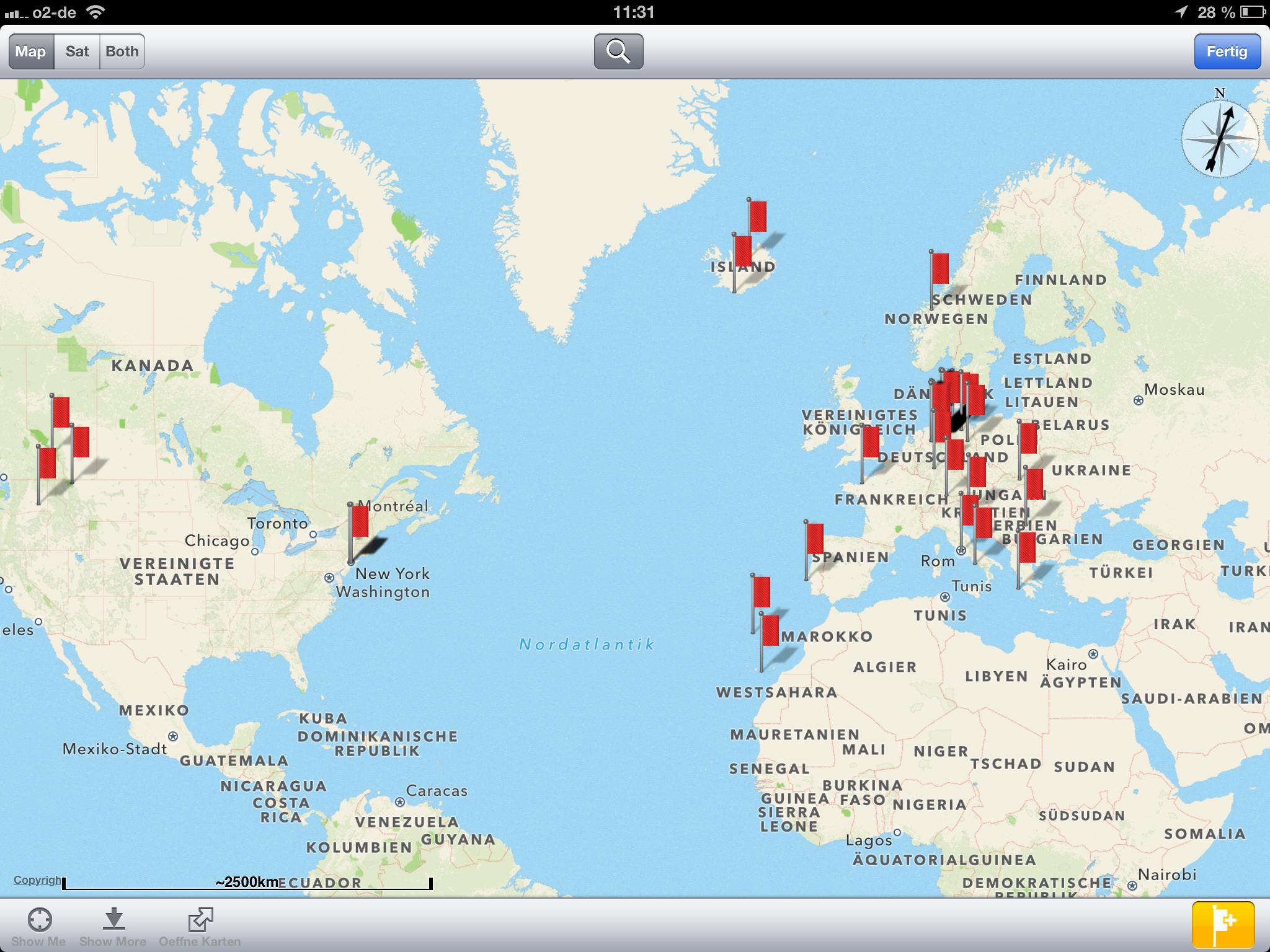 App für iPhone und iPad zum Speichern von Orten